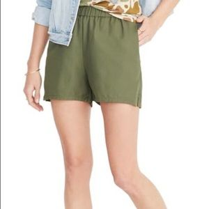 Madewell Pull On Olive Green Shorts S